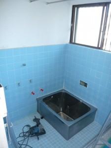 在来工法のタイル張り浴室