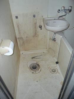 ユニットバスのトイレを外した所