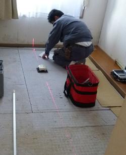 畳工事 レーザー採寸