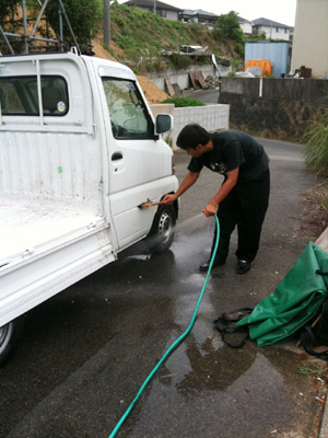 軽トラの清掃