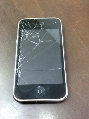 iphone割れた